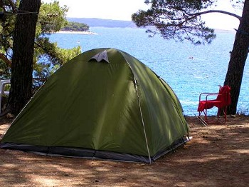camping in nature